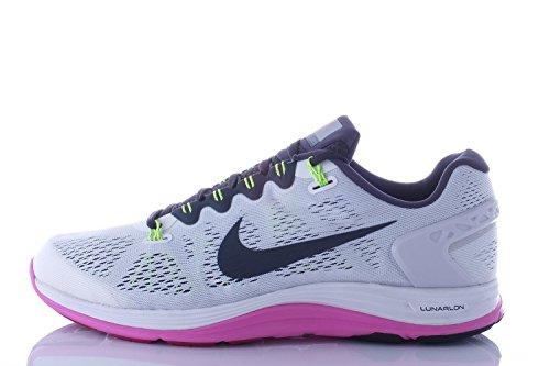 Nike Women's Lunarglide+ 5 Running Shoes. Size 11.5. Summit White/Anthracite-RD Volt-Bright