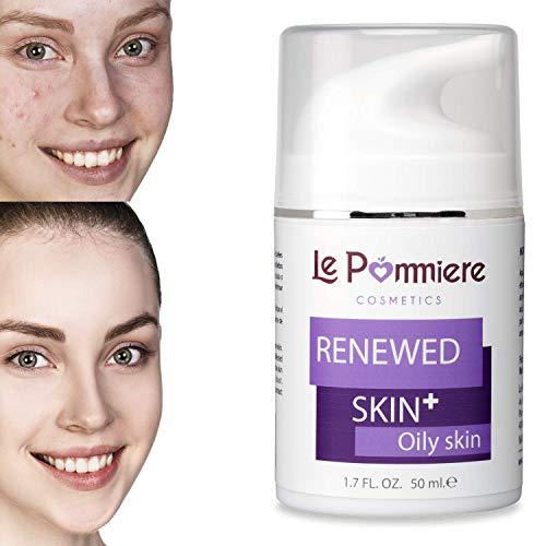 Le Pommiere crema trattamento dell' acne 50 ml. Gel anti brufoli viso e corpo. Adolescente, adulti, ormonale o cistica. Tutti i tipi di pelle. Unisex
