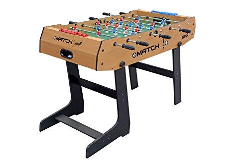 Sport One Match Baby-Foot, 121x 61x 85 cm, repliable à la verticale pour gain de place, barres télescopiques, marqueur de points et balles incluses