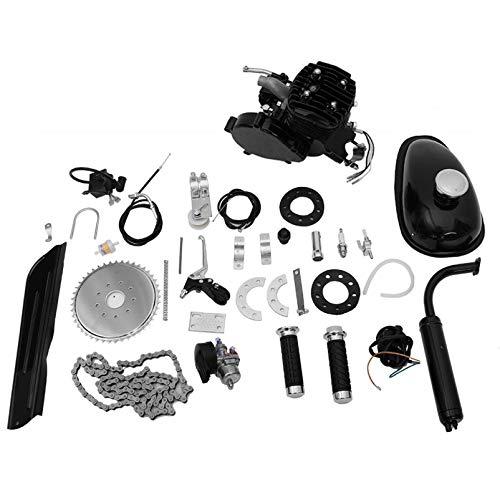 Viadha 80cc 26/28 Inch Bike Engine Kit, Bicycle Motorized 2 Stroke Petrol Gas Motor Engine Kit Set