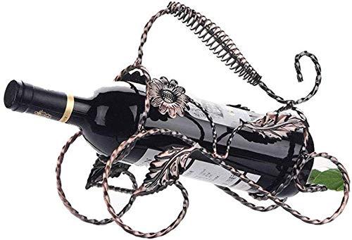 Stemware Racks Europäischen Weinregal Kreative Regal Retro Schmiedeeisen Ornamente Mode Moderne Einfache Flasche Home25,5 Cm * 11,5 Cm * 21 Cm, T-L