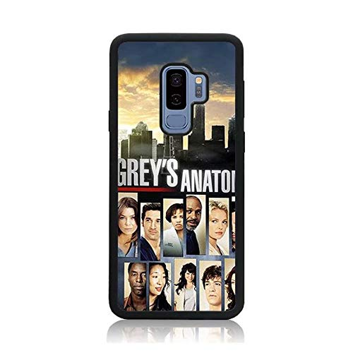Grey's Anatomy Collage Print Case for Galaxy S9 Plus, Shock-Absorption Soft Bumper + Hard Back Cover Anti-Scratch Drop Protection for Samsung Galaxy S9 Plus