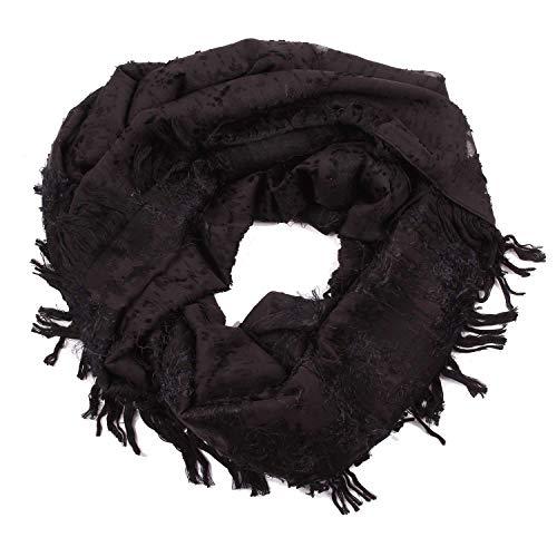 Luxury Fashion | Balenciaga Dames 420838366B11000 Zwart Zijde Sjaals | Seizoen Outlet