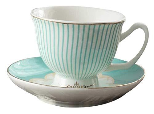 Juego de tazas de té de lujo, juego de té portátil Taza y platillo de porcelana Set juego de té de China de hueso la taza de café y platillo Set Home Office Juego de café de la tarde del juego de té d