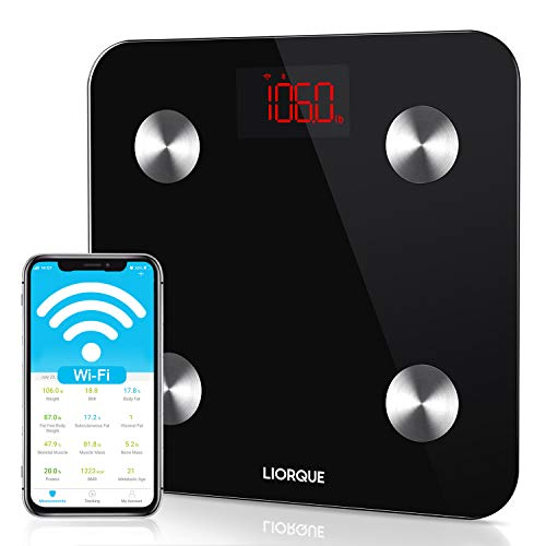 LIORQUE Smart Body Fat Scale, Wi-Fi and Wireless Digital Weight Bathroom...