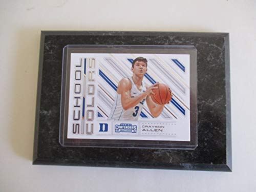 GRAYSON ALLEN DUKE UNIVERSITY PANINI CONTENDERS NBA 2018'SCHOOL COLORS' DRAFT PICKS (WHITE JERSEY) PLAYER CARD MOUNTED ON A 4' X 6' BLACK MARBLE PLAQUE