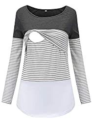 Long sleeved nursing breastfeeding top Amazon