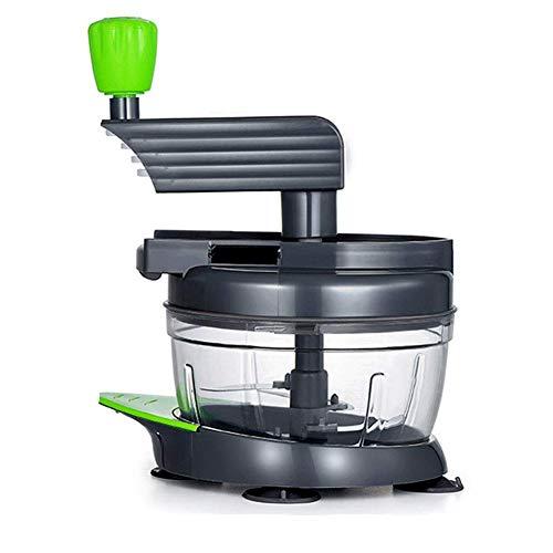 Hachoir manuel, hachoir à légumes Mini manuel main-coudés multifonction portable avec séparateur blanc d'oeuf légumes et de fruits Chopper Hachoir à viande Huangwei7210