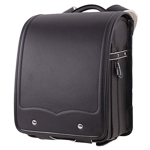 YMXLJJ Japanese Fully-automatic School Bags,Senior Waterproof PU Leather,for Girls and Boys Daily School,Black