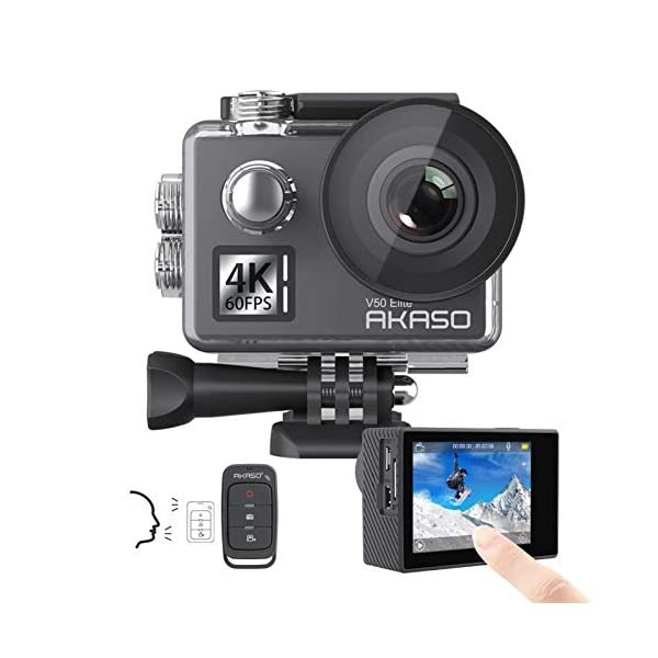 AKASO V50 Elite 4K60fps Touch Screen WiFi Action Camera Voice Control EIS Web Camera...