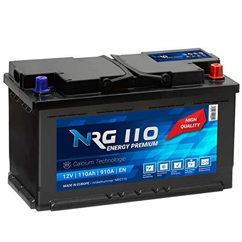 NRG Premium Autobatterie 12V 110AH 910A/EN Batterie ersetzt 88AH 90AH 95AH 100AH 105AH