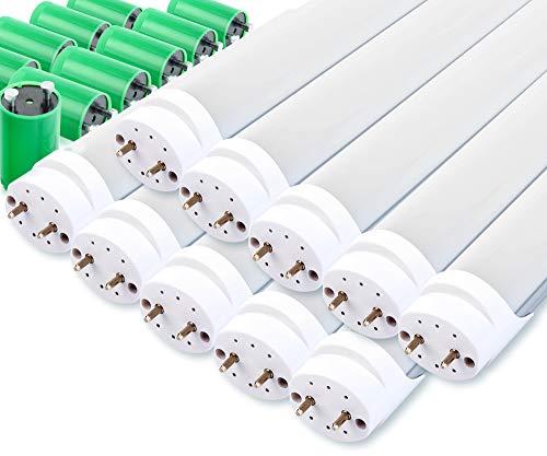 10er Set Showlite LED Röhre 150cm (1500mm Leuchtstoffröhre, T8 G13, 2300 Lumen, 4500 Kelvin, Tageslichtweiß, Leistung: 24W)