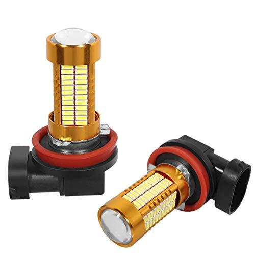 GCS Gcsheng 2 unids H8 H11 LED lámpara antiniebla HB4 HB3 9005 9006 Coche LED Luces antiniebla 4014 106 SMD Auto Conexión automática DRL White Amarillo 12V-24V