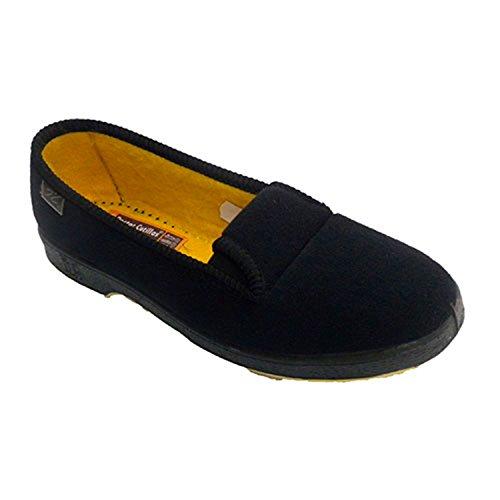 Zapatilla Mujer de Persona Mayor con Gomas a los Lados Doctor Cutillas en Negro Talla 41