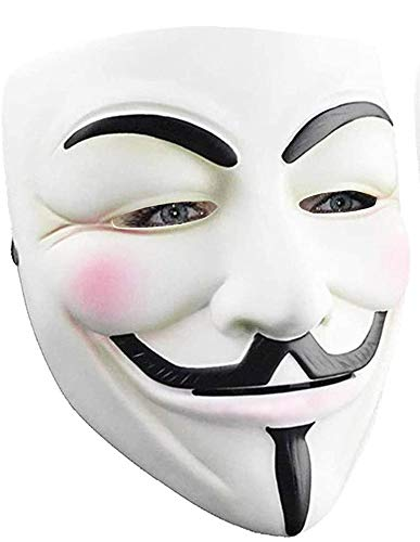 Hacker Mask for Kids - V for Vendetta Mask Halloween Masks Anonymous Guy Mask for Halloween Costume