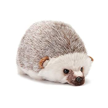 DEMDACO Huddled Small Hedgehog Wispy Chestnut Children s Plush Stuffed Animal