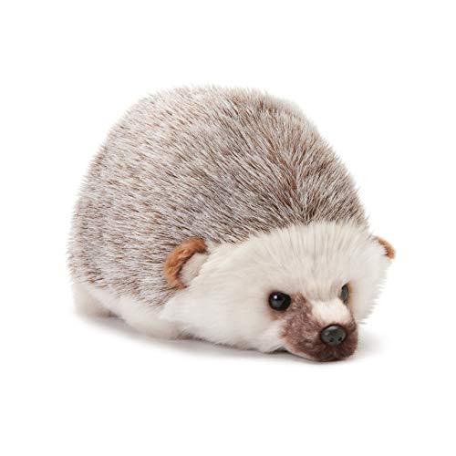 DEMDACO Huddled Small Hedgehog Wispy Chestnut Children's Plush Stuffed Animal