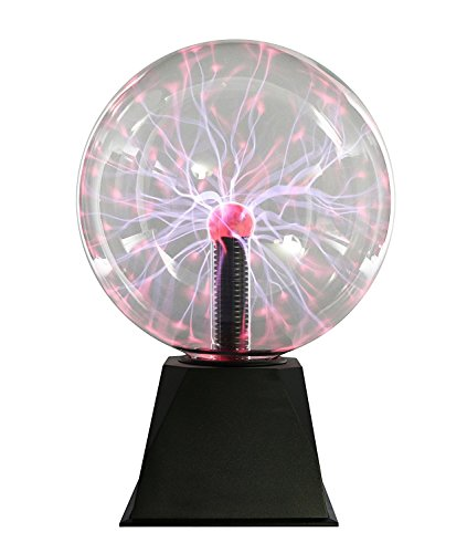 "Plasma Ball Light 8"" Inch, Interactive Touch Sound Response Science Lamp Orb Tabletop"