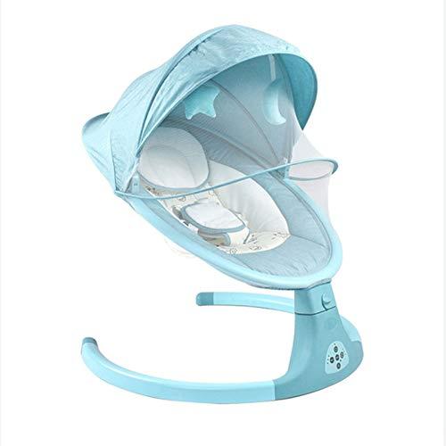 Baby Electric Schaukelstuhl kann sitzen und hinlegen, um Baby zu koaxieren, um ein schlafendes Baby schlafen (Color : Blue)