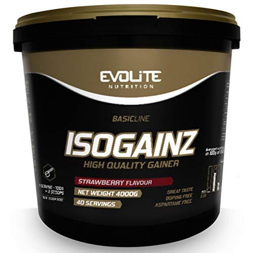 Evolite Nutrition IsoGainz Paquete de 1 x 4000g Gainer - Ganador de Ma