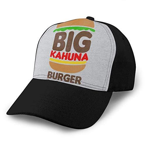 HONGYANW Baseball Cap Big Kahuna Burger Tarantino Dad Hat Verstellbar Atmungsaktiv für Herren Damen Snapback Trucker Cap Schwarz