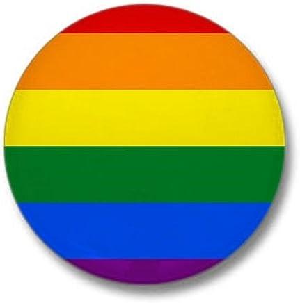 """CafePress Rainbow Gay Pride Flag Mini Button 1"""" Round Mini Button"""