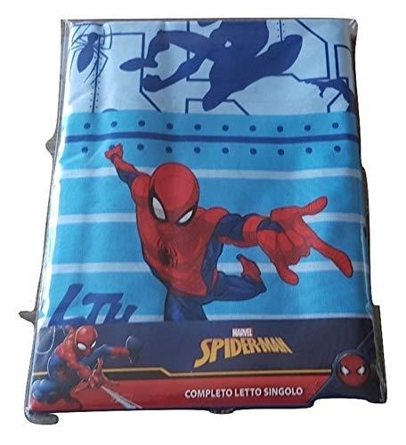 Spiderman Completo Letto 3 pz Lenzuolo sopra+sotto+Federa 100% Cotone