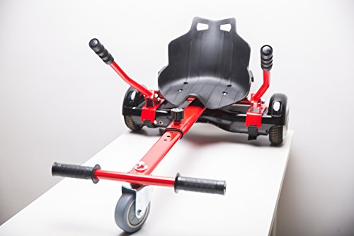 WorryFree Gadgets Cool Mini Kart Hoverboard Accessories for Adjustable -All Heights- All Ages- Self Balancing Scooter -Compatible with All Hoverboards (Not Included Balance Board