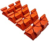 Flycoo2 - Espaciadores de suelo de madera laminada para la instalación de suelos de vinilo, de madera franca y flotante, con una distancia de 1/4 y 1/2