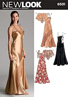 New Look Sewing Pattern 6531 Misses Special Occasion Dresses, Size A (6-8-10-12-14-16)