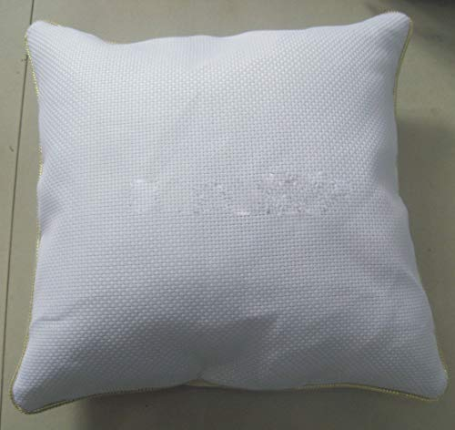 Funda de cojín de tela de punto de cruz, de algodón de 11 quilates, funda de...