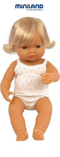 multi-colore Miniland Miniland 31152 Baby Europeo GIRL BAMBOLA 38 cm 31152