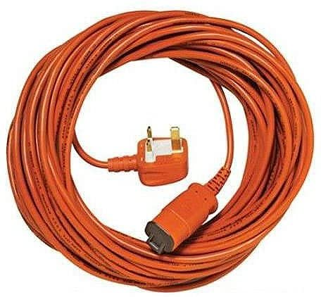 SPARES2GO 15 Metre Cable & Lead Plug for Flymo Lawnmower/Hedge Trimmer (15m)