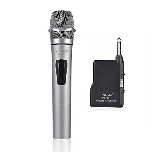 Kesilian Xingma PC-K3 dinámica de batería micrófono inalámbrico de Mano Karaoke Mic VHF con el Receptor para KTV del Canto del Habla Amplificadores