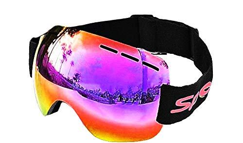 Inception Pro Infinite Occhiali snowboard Maschio - Uomo - specchio - maschera da sci - anti nebbia - protezione UV OTG - rosso - traspiranti - Idea Regalo originale