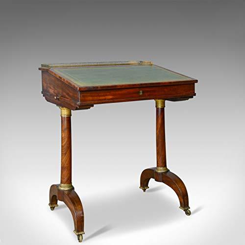 London Fine Antiques 1820 - Mesa de Escritorio (Madera de Caoba, diseño Antiguo)