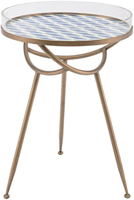 Zuo A11021 Lattice Round Table, bluee
