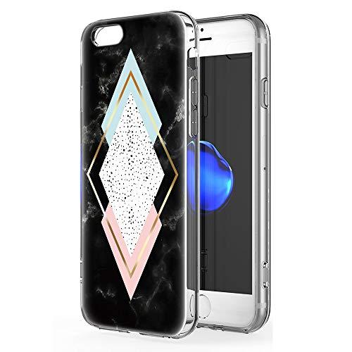 Pnakqil iPhone 6s Plus / 6 Plus Cover Trasparente, Premium Custodia Silicone con Disegni Leggero Ultra Sottile TPU Morbido Antiurto 3d Pattern Bumper Case per iPhone 6s Plus / 6 Plus, 4 Diamante