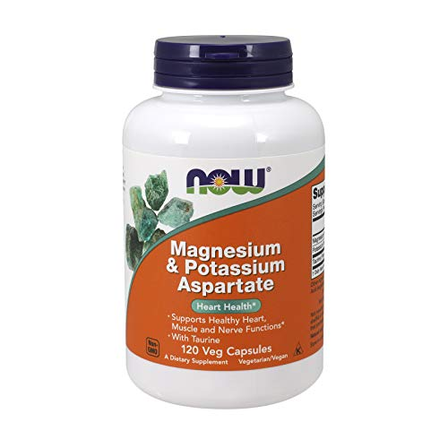 NOW Supplements, Magnesium & Potassium Aspartate with Taurine, 120 Veg Capsules