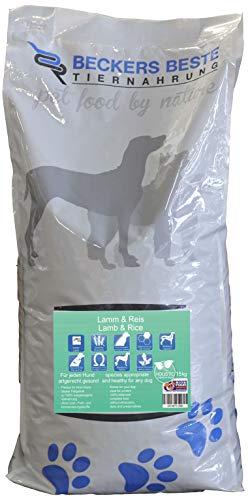 Beckers Beste - Trockenfutter Hund mit Lamm und Reis 15kg - glutenfrei ohne Getreide - Junghund, Adult & Senior - Hundefutter große und kleine Hunde-Rassen