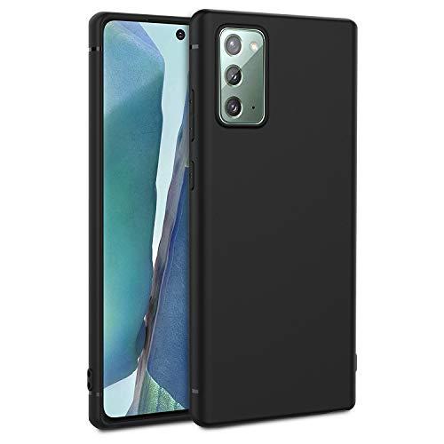 EasyAcc Custodia per Samsung Galaxy Note 20, Morbido TPU Cover Slim Anti Scivolo Protezione Posteriore Case Antiurto E' Adatto per Samsung Galaxy Note 20- Nero