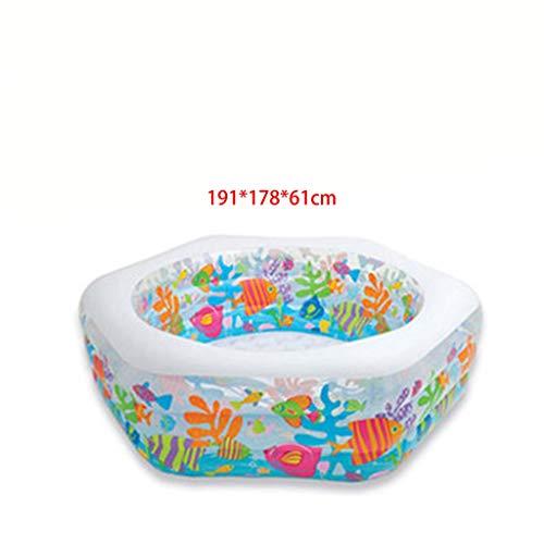 LSZ Piscina Familiar Bebé Adulto Grande Infinito al Aire Libre Inflable Piscina Comercial Infantil Infantil Baño Piscina Piscinas hinchables (Color : B)