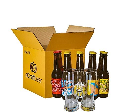 PACK DEGUSTACIÓN REGALO (10x33cl y 2 vasos) - CERVEZAS SIN ALCOHOL -...