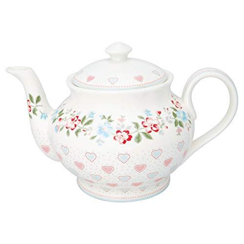 GreenGate - Teekanne - Sonia - Porzellan - weiß - 1 l