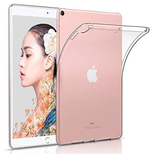 Cover per Nuovo iPad 2018/2017 9.7 pollici, HBorna Custodia Protettiva Posteriore Silicone, [Cristallo Trasparente] Back Case Cover per Apple New iPad 9,7 inch 2018/2017 Release, Trasparente