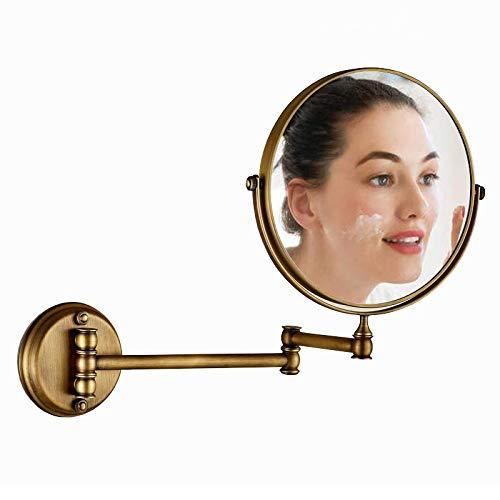 Tuzi Qiuge Spiegel Wand Hotel Vanity Spiegel Doppelseitiges Falten Badezimmerspiegel Grün Bronze-Spiegel