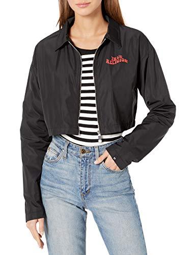 True Religion Damen Boxy Long Sleeve Jacket Jacke, schwarz, X-Large