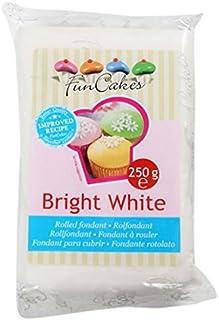 FunCakes Extra Blanco, Vainilla-250 gr Fondant Nacarado,