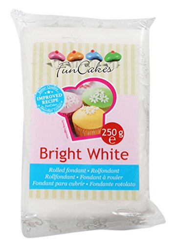 FunCakes Extra Blanco Vainilla Fondant Sabor 1 Nacarado, 250 gr