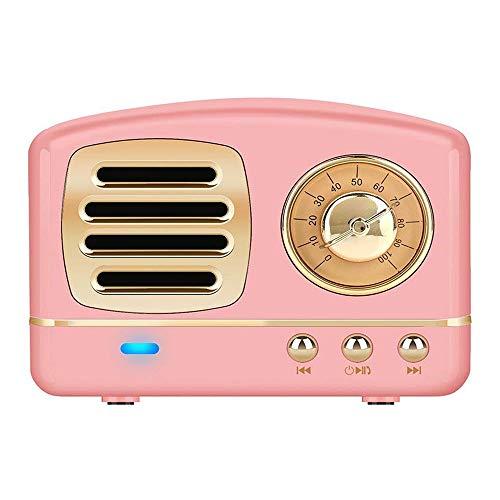 Enhanced Bass Retro Stereo Wireless Vintage Portable Speaker with TF Card Slot,USB...
